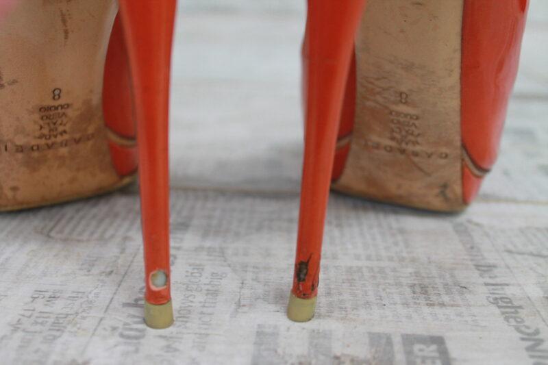 план работ по реставрации туфлей Casadei