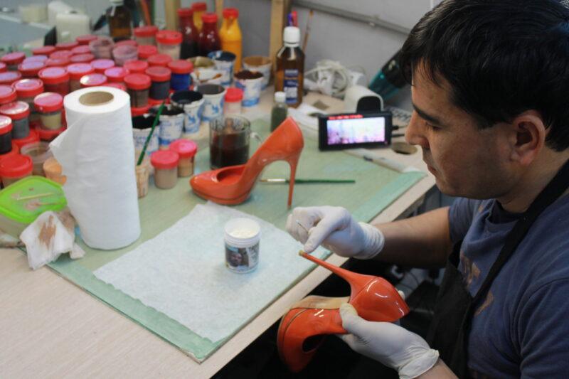 реставрационные работы туфель мастерами GetBoots