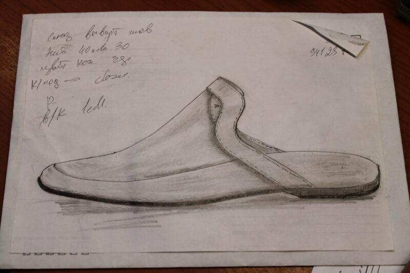 третий шаг создания обуви - разработка выкройки