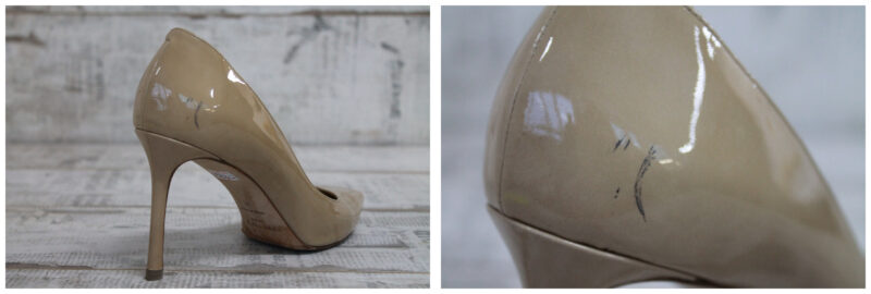 Хранение лаковой обуви вместе с другой обувью