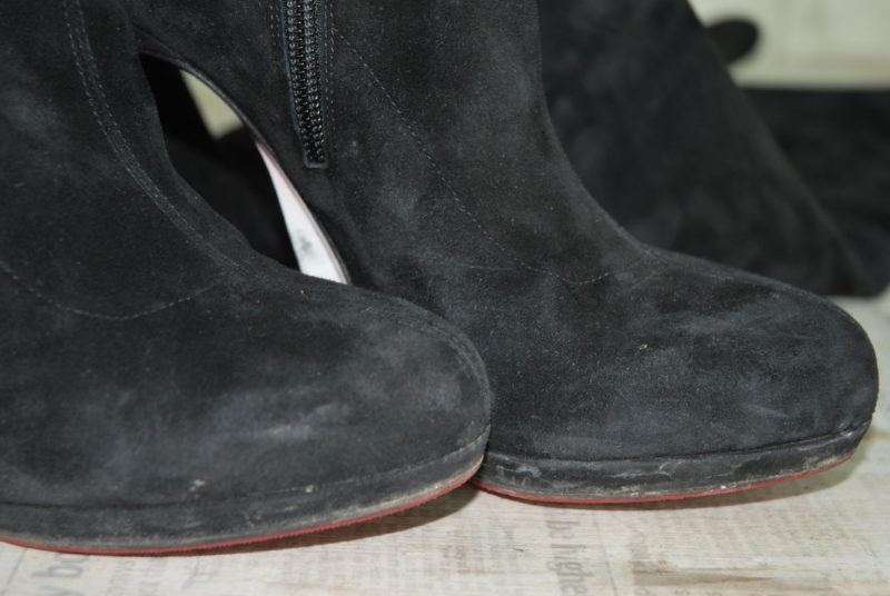 выведение реагента из замшевой обуви