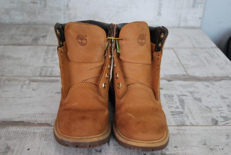 ботинки Timberland из нубука до реставрации
