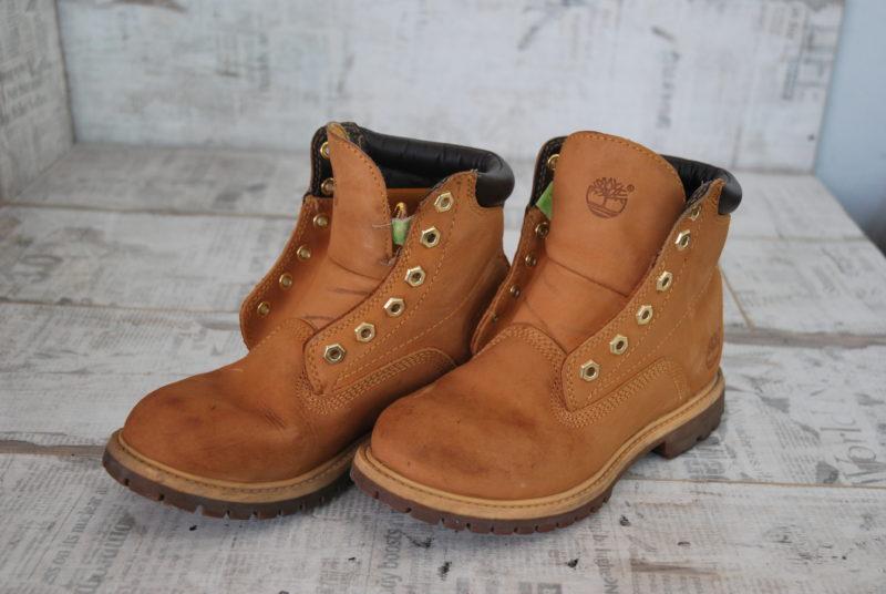 ботинки Timberland из нубука - план работ по реставрации