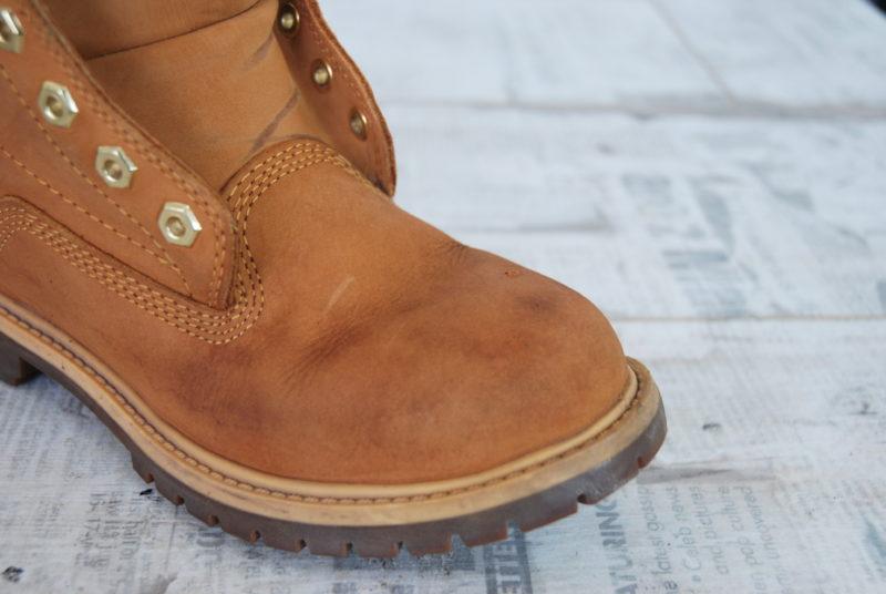 чистка и выведение пятен с ботинок Timberland