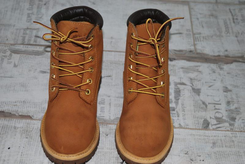 ботинки Timberland из нубука после реставрации
