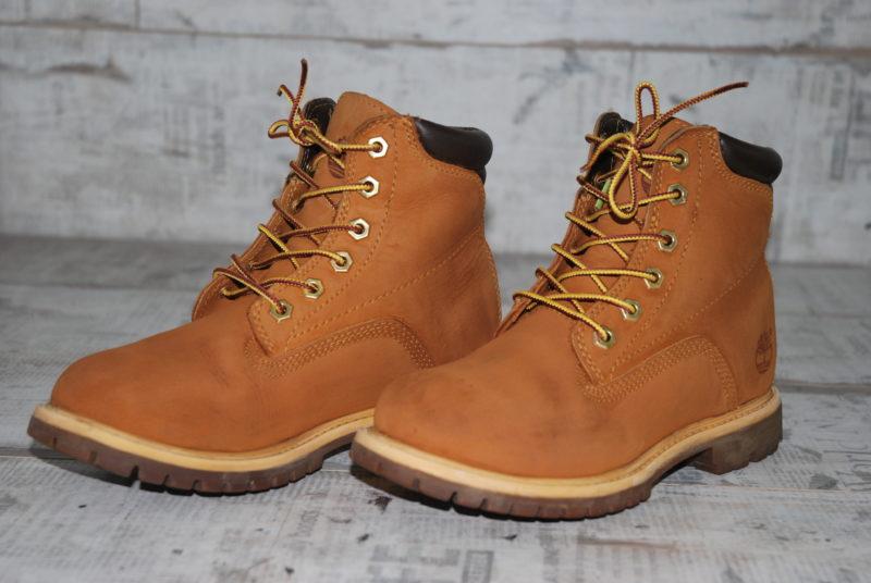 ботинки Timberland из нубука после покраски