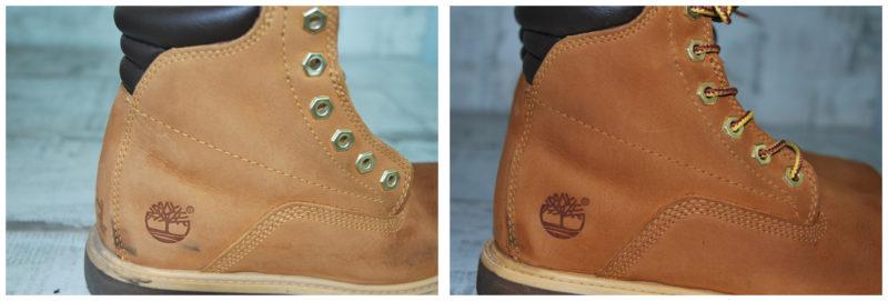 реставрация ботинок Timberland из нубука: фото до и после