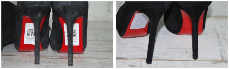 покраска каблуков и ранта